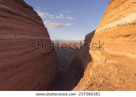 Atacama Desert, Chile,Sunset - stock photo