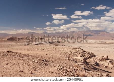 Atacama Desert in Atacama Region, Chile - stock photo