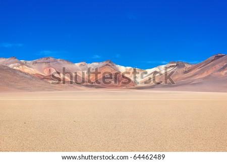 Atacama desert in Bolivia, close to border of Chile - stock photo