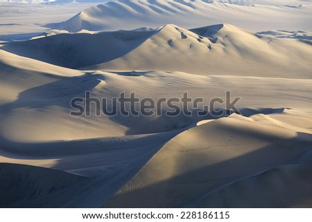 Atacama Desert, Oasis of Huacachina, Peru - stock photo