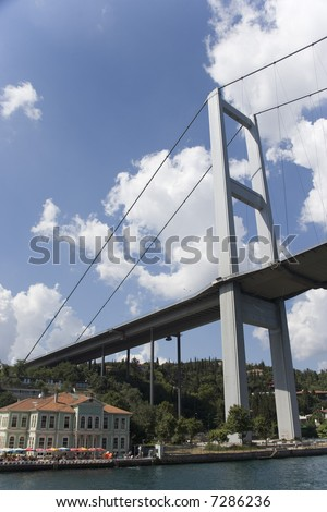 Ataturk Bridge at Istanbul, Turkey