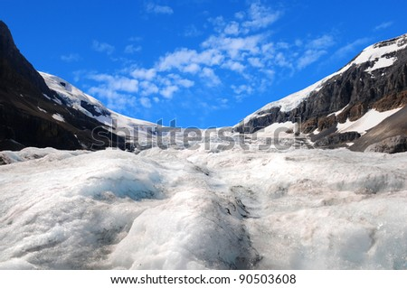Athabasca glacier Columbia Icefields, Canada - stock photo