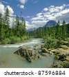 Athabasca River, Alberta, Canada - stock photo