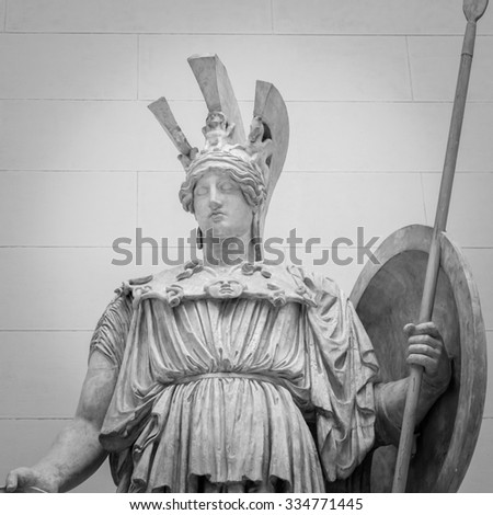 Athena the ancient Greek goddess of wisdom and science - stock photo