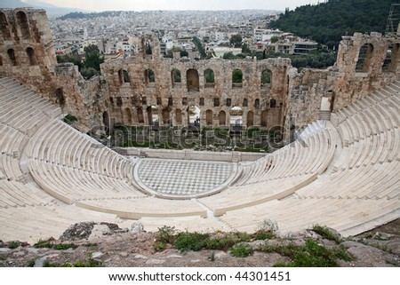 Athens Acropolis theater - Athens, Greece - stock photo