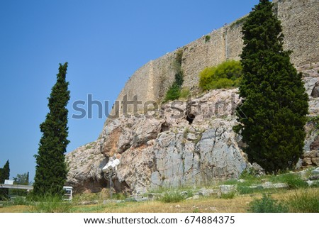 ATHENS, GREECE - JUNE 16: Acropolis in Athens, Greece on June 16, 2017.