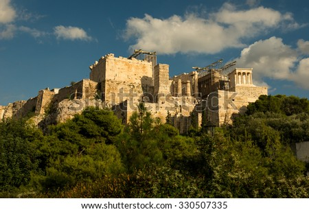 ATHENS, GREECE - OCTOBER 12: City of Athens on October 12, 2009 in Athens.