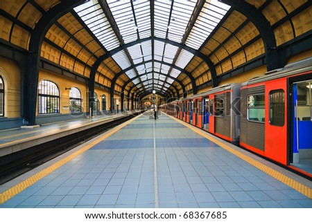 Athens Metro Station in Greece - stock photo