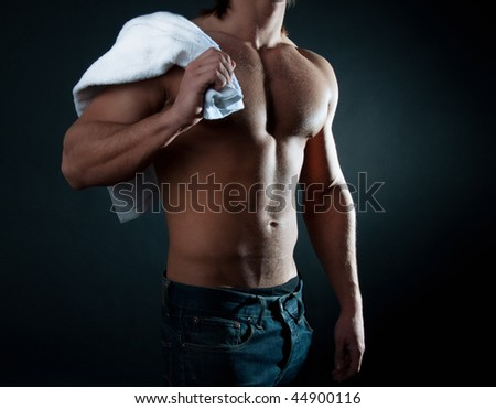 Athlete after the workout - stock photo