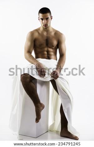 Athlete men  - stock photo
