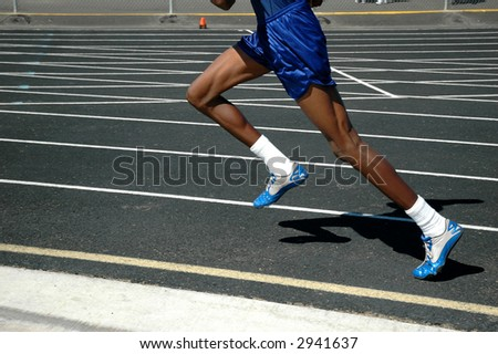 Athlete racing - stock photo