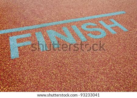 Athlete track finish sign - stock photo