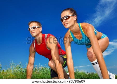 athletes - stock photo