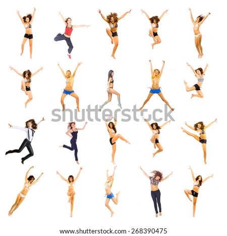 Athletic Concept Isolated over White  - stock photo