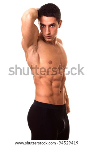 Athletic Man Shirtless - stock photo