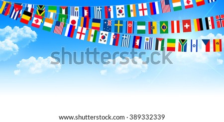 Athletic meet national flag sky background