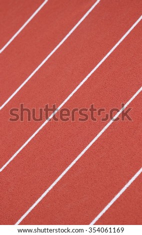 Athletic running track