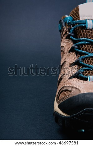 athletic shoes for tourism and recreation. Theme Travel - stock photo