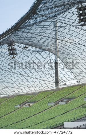 Athletic Stadium with Rows of Empty Seats - stock photo