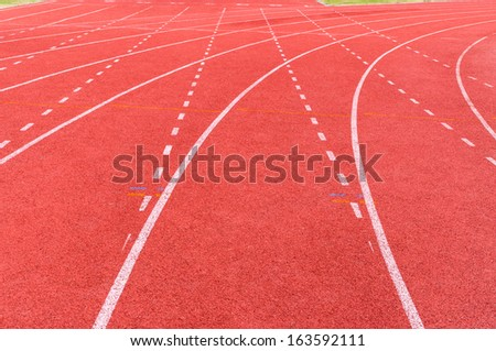 athletic track. - stock photo