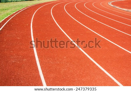 athletic track - stock photo