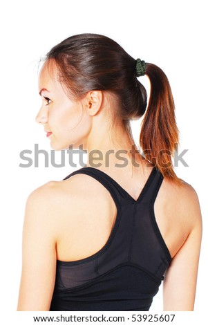 athletic woman - stock photo