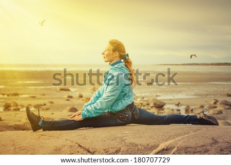 Athletic young woman - stock photo