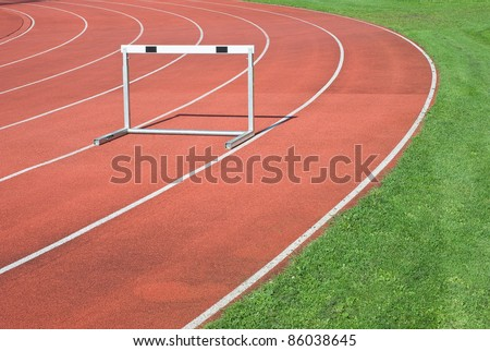 Athletics as Symbol of  Personal Determination and Competitiveness - stock photo