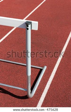 athletics - hurdle close up - stock photo