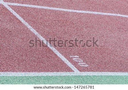 Athletics stadium. Layout tracks. - stock photo