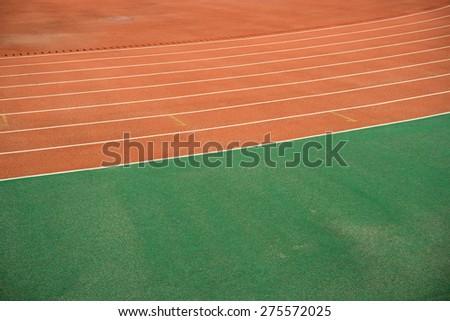 Athletics Track  - stock photo