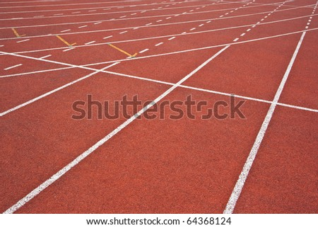 Athletics Track Lanes