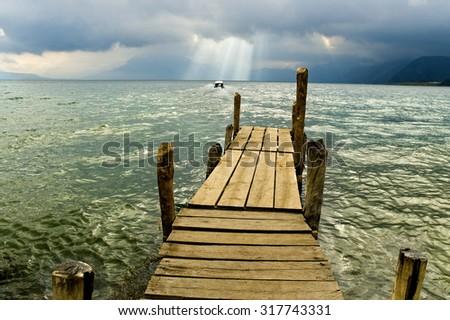 Atitlan lake. Guatemala - stock photo
