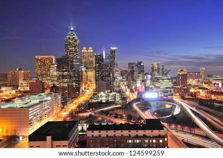 Atlanta downtown - stock photo