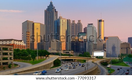 Atlanta, Georgia Skyline. - stock photo