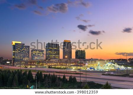 Atlanta, Georgia, USA midtown skyline. - stock photo