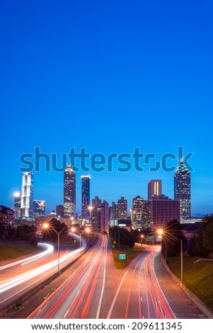 Atlanta. Image of the Atlanta skyline during twilight  - stock photo