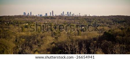 Atlanta Metropolitan Skyline and Forest - stock photo