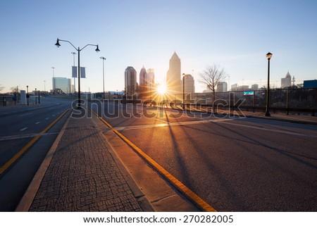 Atlanta street, Georgia, USA - stock photo