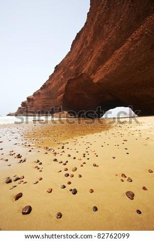 Atlantic, Africa, Morocco beach - stock photo