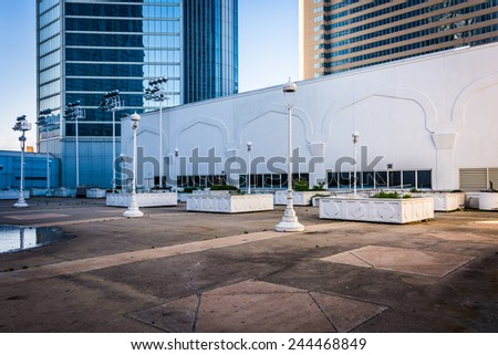 ATLANTIC CITY - MAY 30: Courtyard at the Trump Taj Mahal on May 30, 2014 in Atlantic City, New Jersey. The Trump Taj Mahal is a hotel and casino in Atlantic City. - stock photo