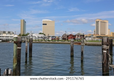 Atlantic City, New Jersey, June 24, 2015: Borgata hotel and casino, famous attraction for tourist in Atlantic City, New Jersey.   - stock photo