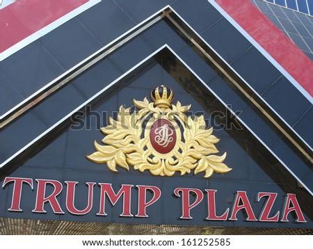 ATLANTIC CITY, NEW JERSEY - JUNE 1: Trump Plaza in Atlantic City, New Jersey, as seen on June 1, 2006. It is a hotel and casino located on the Boardwalk in Atlantic City. - stock photo