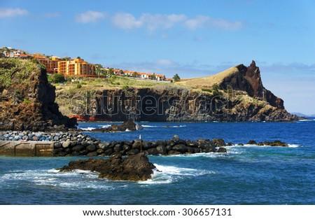 Atlantic coast of Madeira Island, Portugal, Europe - stock photo