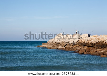 Atlantic Ocean coastal landscape,Tanger city, Morocco in Africa