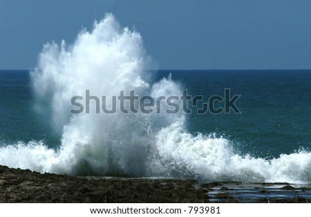 Atlantic Ocean in Rabat, Morocco - stock photo