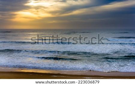 Atlantic Ocean near Seignosse - France, Aquitaine - stock photo