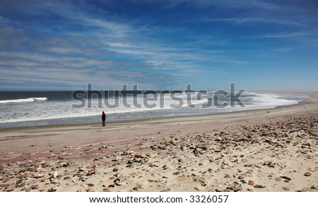 Atlantic Ocean, Skeleton Coast, Namibia - stock photo