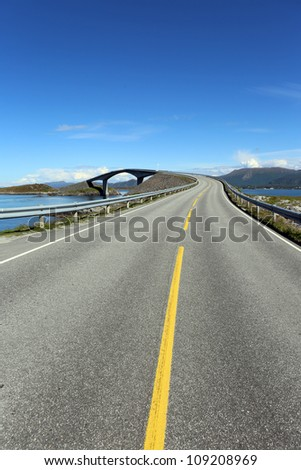 Atlantic Road. Norway - stock photo