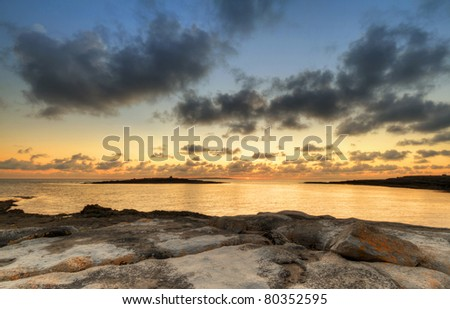 Atlantic sunset over Burren - Ireland